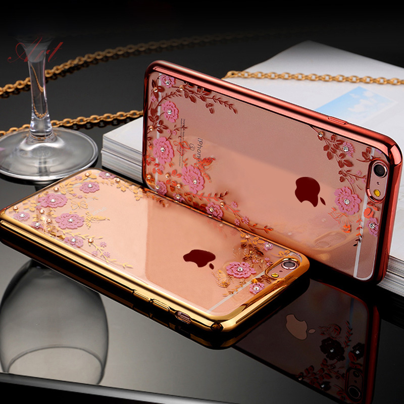 Obal / kryt Crystal Flowers pro iPhone 7