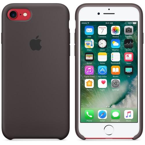 Originální silikonový kryt Apple iPhone 8 / 7 - Kakaově hnědý