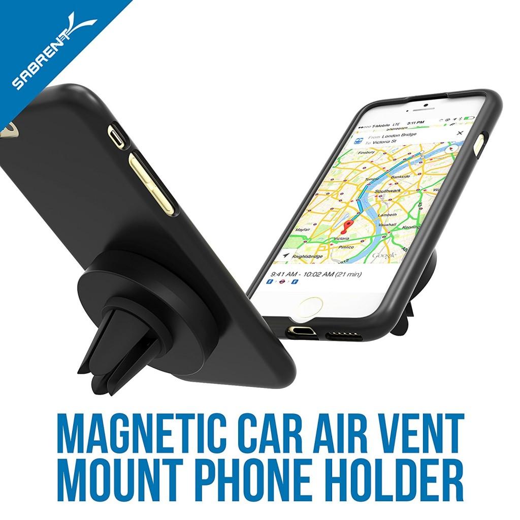 Univerzální magnetický držák 2in1 do ventilace i na palubní desku auta