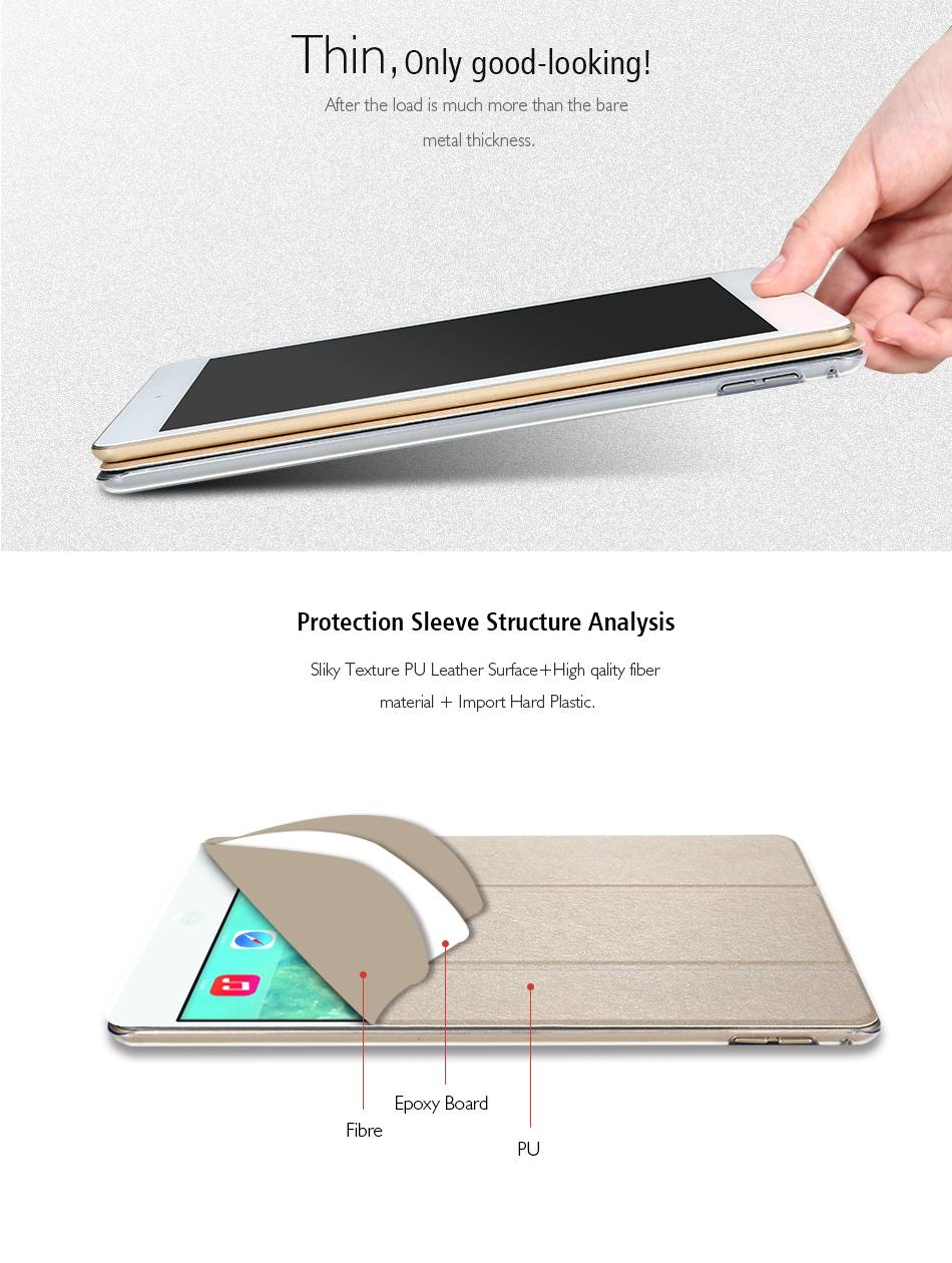 Flipové pouzdro s průhlednými zády pro iPad mini 4