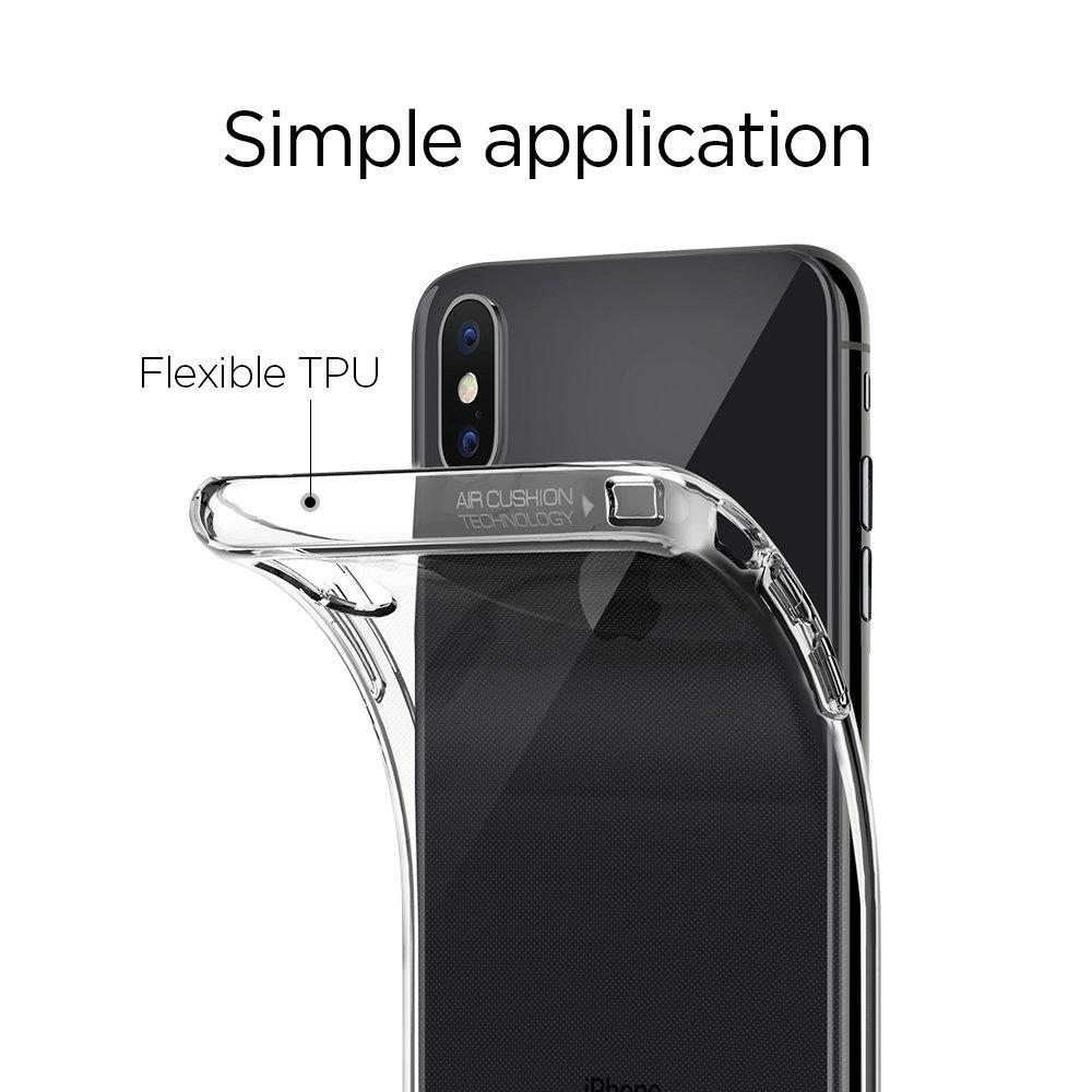 Pouzdro Spigen Liquid Crystal na Apple iPhone X