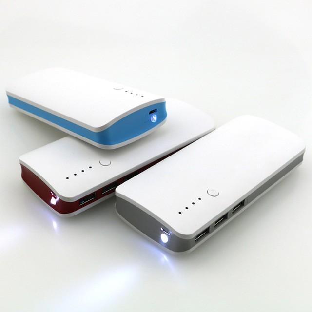 Externí baterie POWER BANK 20 000mAh, 3x USB, LED