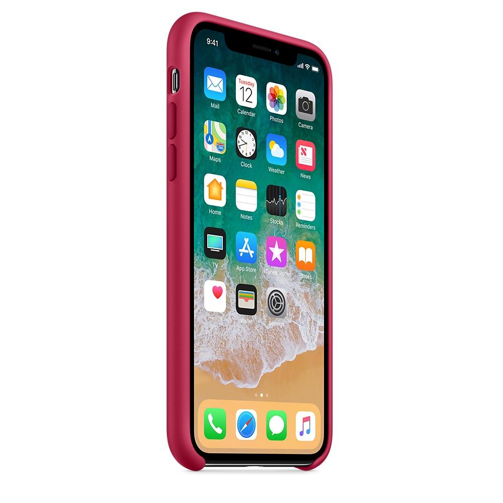Originální silikonový kryt Apple iPhone X - Vínový