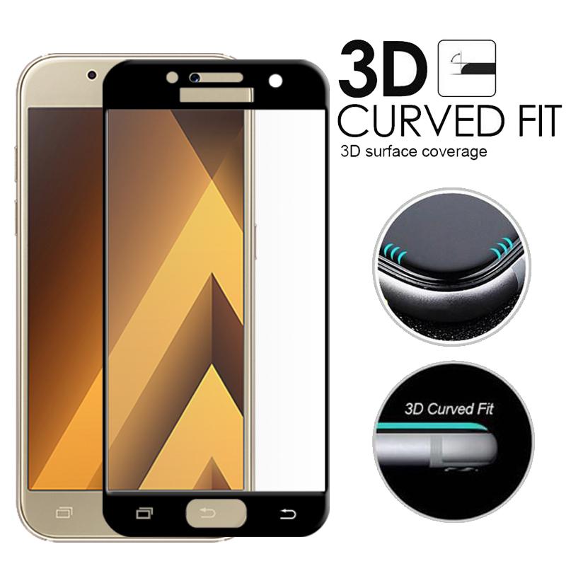 3D ochranné sklo Carbon Fiber na displej Samsung Galaxy A3 (2017)
