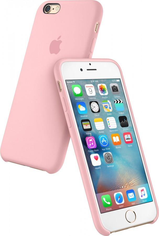 Originální silikonový kryt Apple iPhone 6s / 6 - Růžový