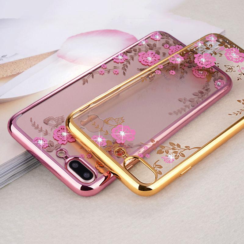Obal / kryt Crystal Flowers pro iPhone 4s / 4