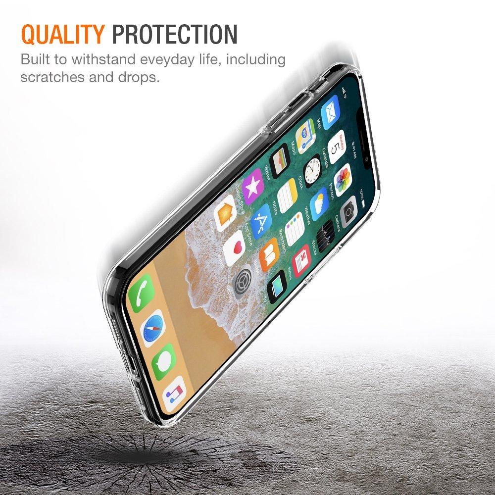 Průhledný čirý obal / kryt Ultra Slim Hybrid na iPhone X