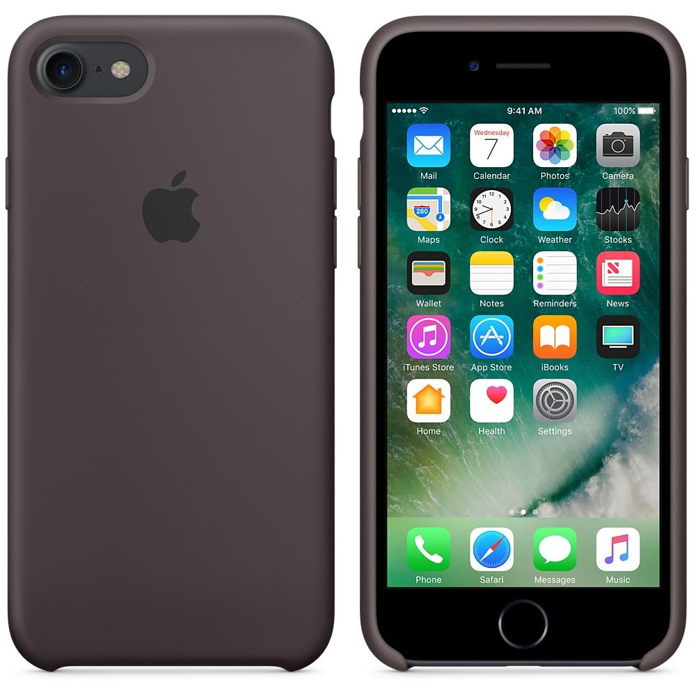 Originální silikonové pouzdro Apple iPhone 8 / 7 - Kakaově hnědé