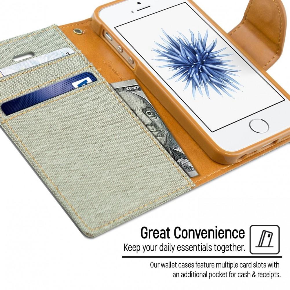 Pouzdro Kabura Canvas Book pro Apple iPhone SE / 5s / 5