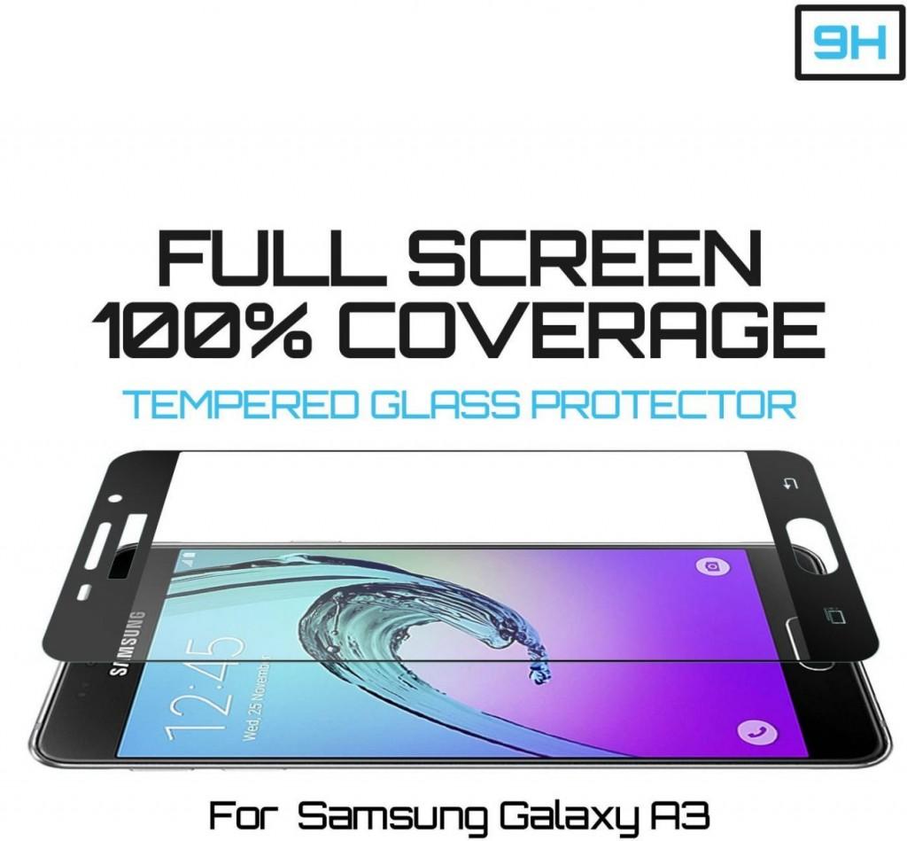 Tvrzené sklo FullCover pro ochranu displeje Samsung Galaxy A3 (2016)