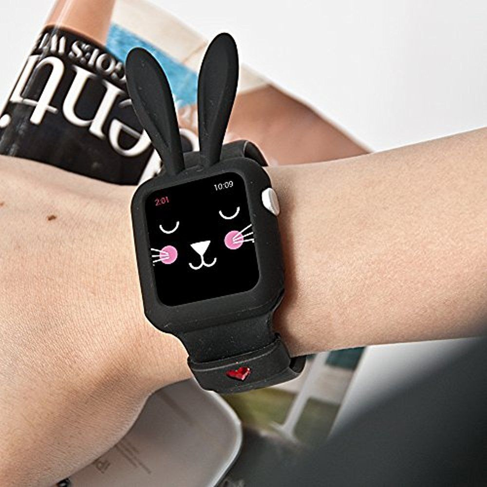 Silikonový obal Cartoon Rabbit Apple Watch Series 3/2/1 (42mm)