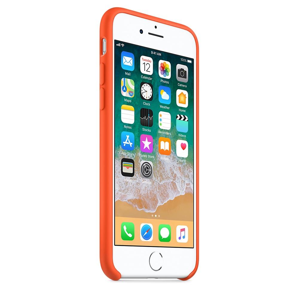 Originální silikonový kryt Apple iPhone 8 / 7 - Paprikově oranžový