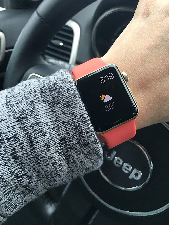 Silikonový řemínek SmoothBand pro Apple Watch 38mm Series 1/2/3
