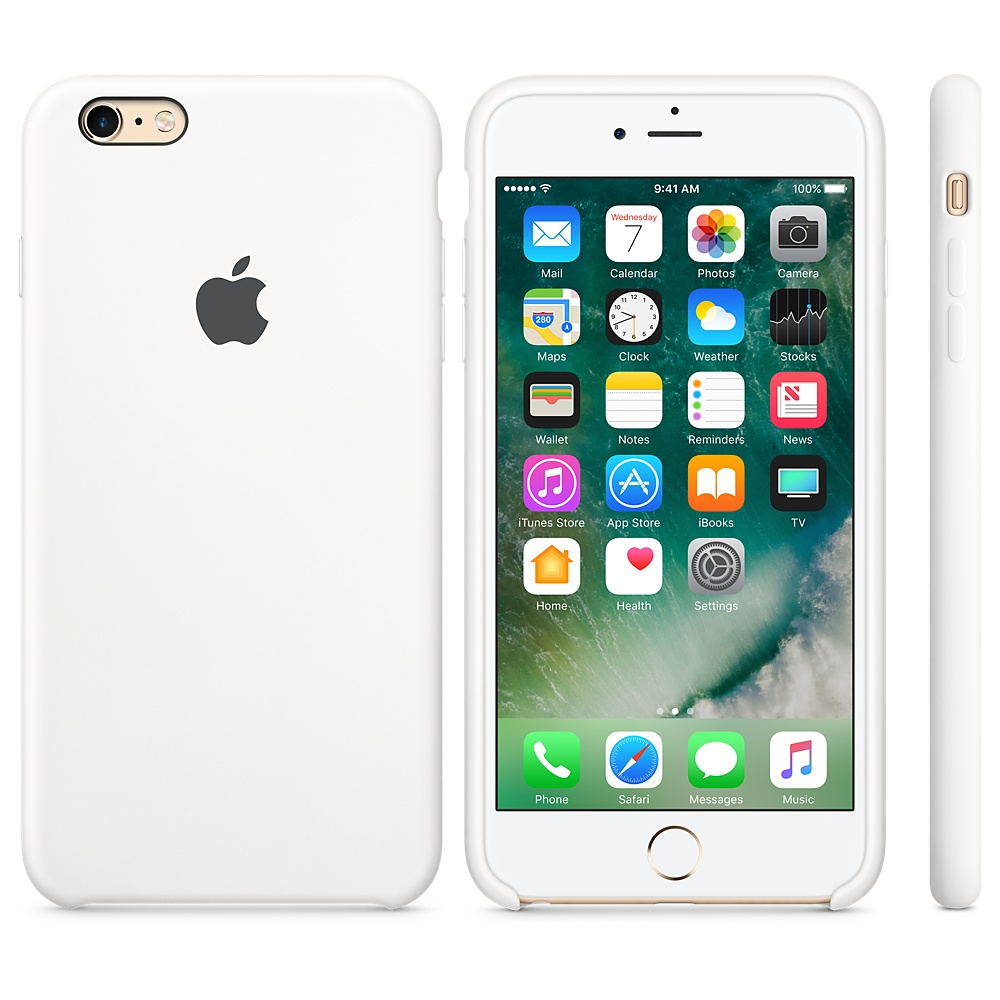 Originální silikonový kryt Apple iPhone 6s Plus / 6 Plus - Bílý