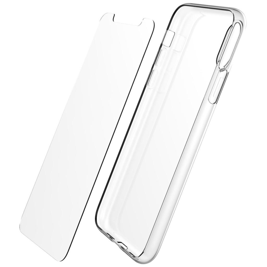 iMore SET: Čirý silikonový TPU obal + tvrzené sklo 9H na iPhoneX