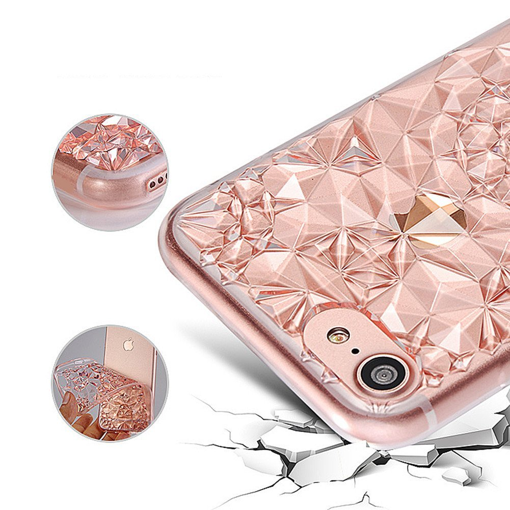 Kryt 3D Flowers & Crystals pro iPhone SE / 5s / 5