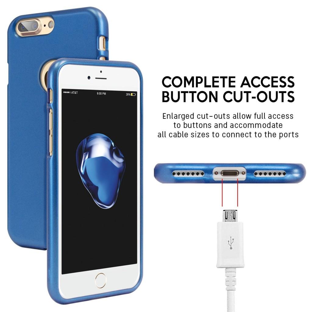 Silikonový obal / kryt iJelly Metal Goospery Mercury Apple iPhone 8 Plus / 7 Plus