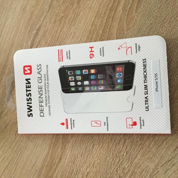 Ochranné temperované sklo SWISSTEN Defense Glass Apple iPhone SE/5s/5c/5