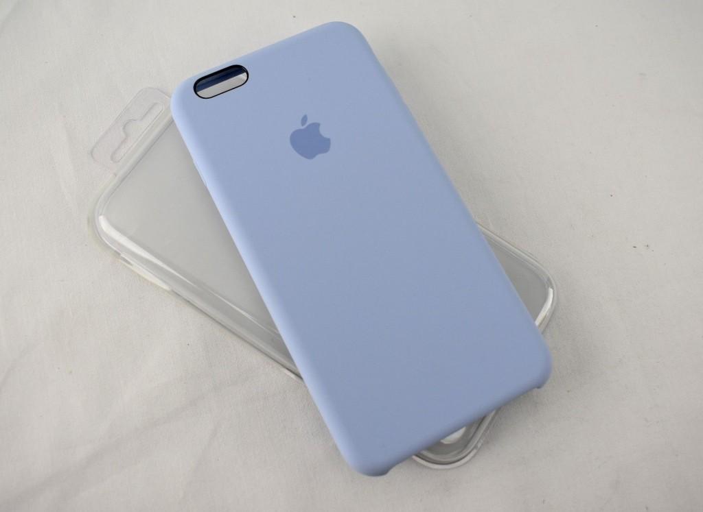 Originální silikonový kryt Apple iPhone 6s / 6 - Šeříkově modrý