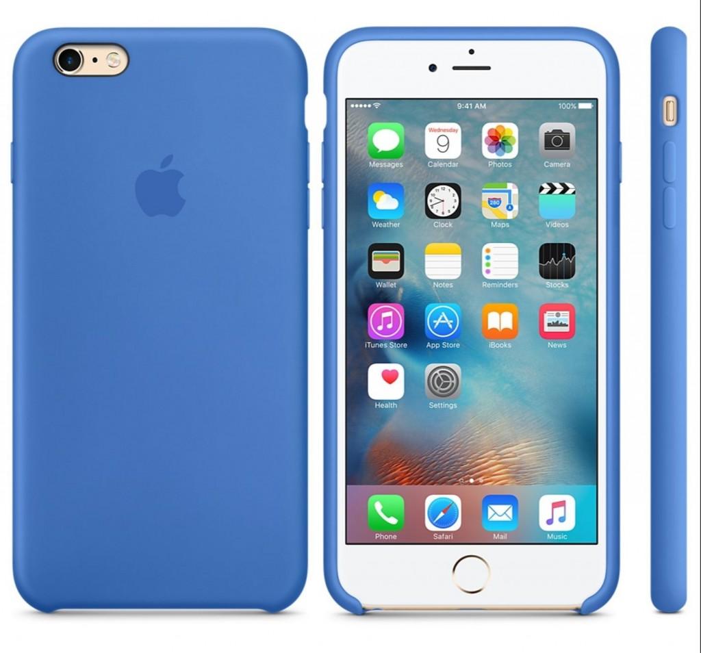 Originální silikonový kryt Apple iPhone 6s / 6 - Královsky modrý
