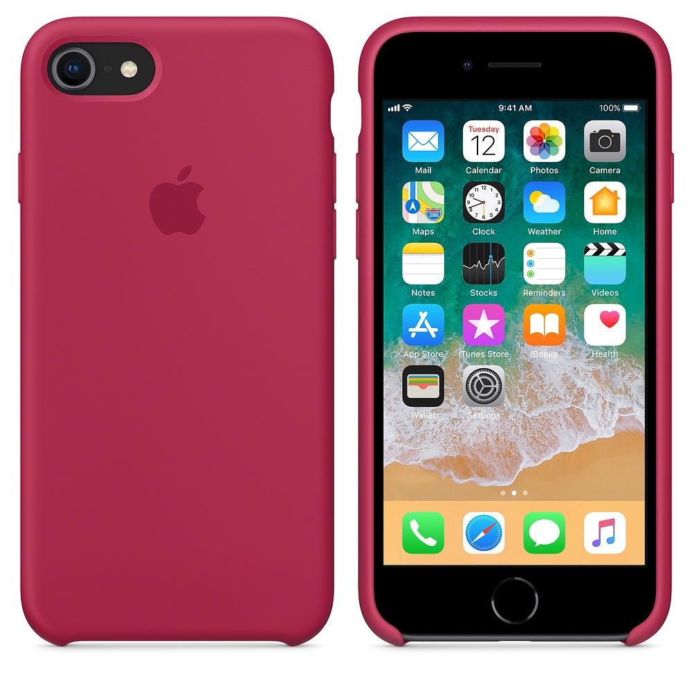 Originální silikonový kryt Apple na iPhone 8 / 7 - Vínový