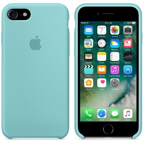 Originální silikonový kryt Apple iPhone 8 / 7 - Jezerně modrý