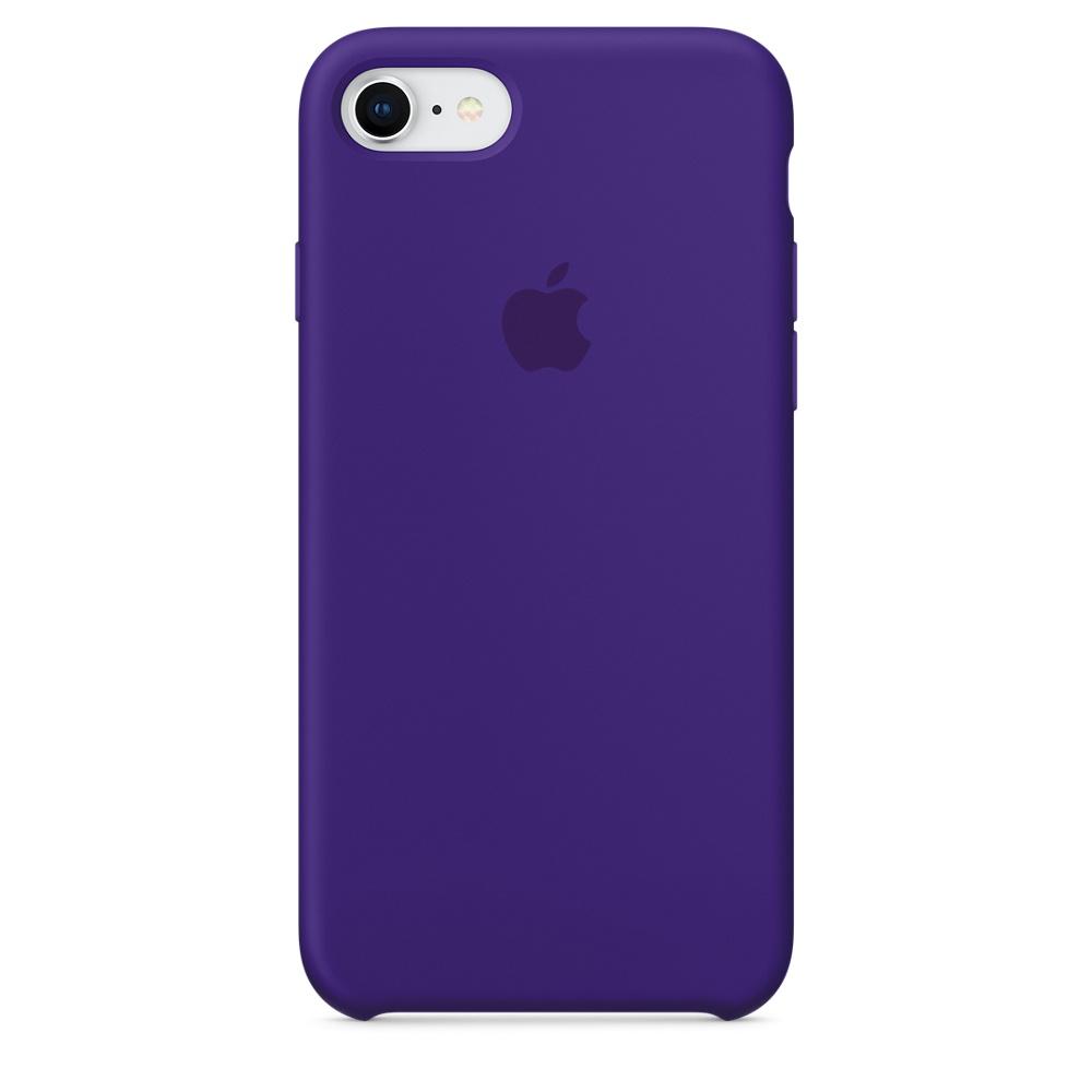 Originální silikonový kryt Apple iPhone 8 / 7 - Tmavě fialový