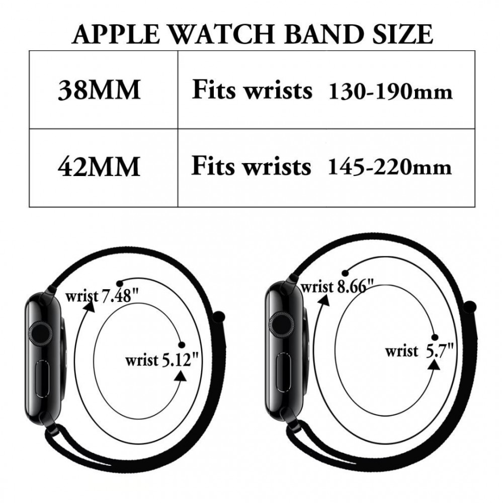 Řemínek NYLON pro Apple Watch 38mm Series 1, 2, 3