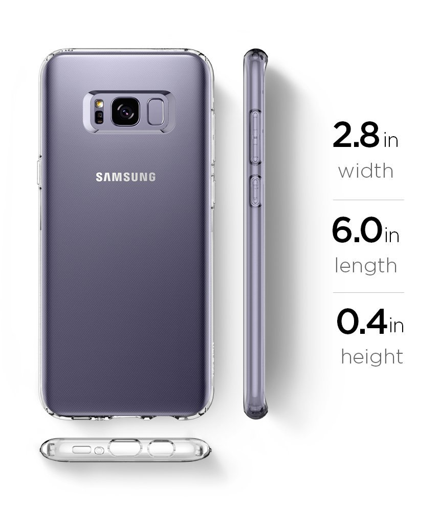 Silikonový obal / kryt Goospery Mercury pro Samsung Galaxy S8, čirý