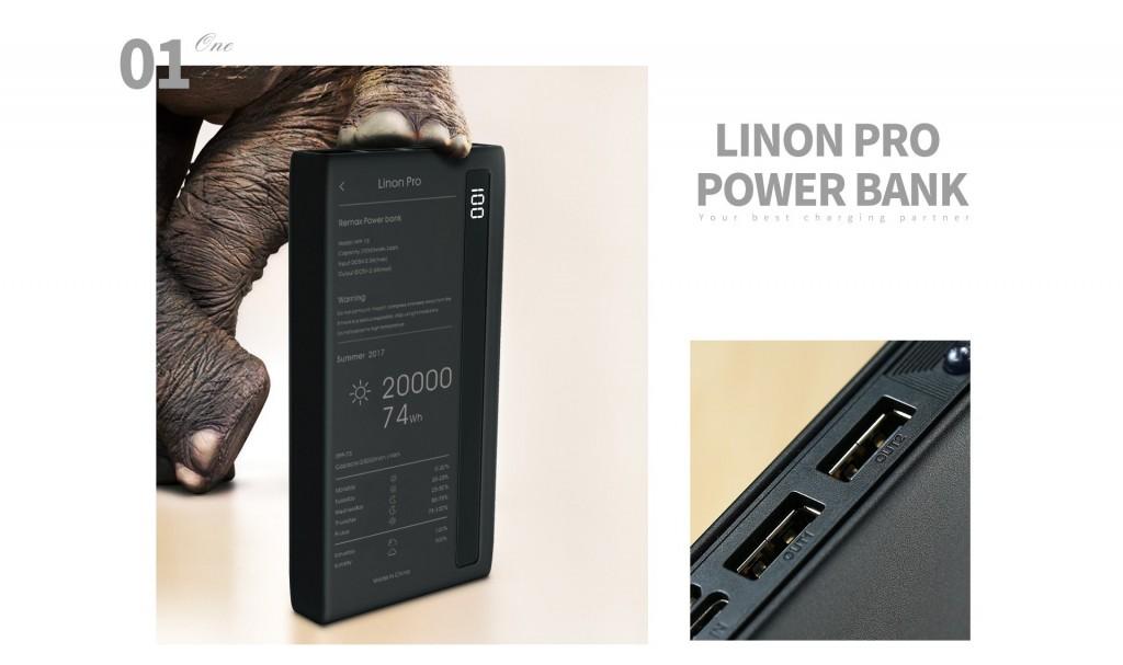 REMAX Powerbanka  Linon PRO RPP-73 20000mAh 74Wh