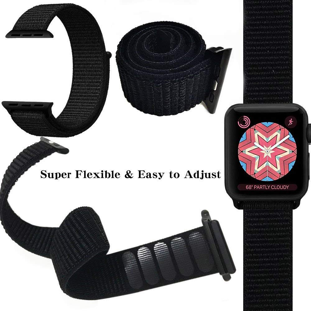 Řemínek NYLON pro Apple Watch 38mm Series 1, 2, 3