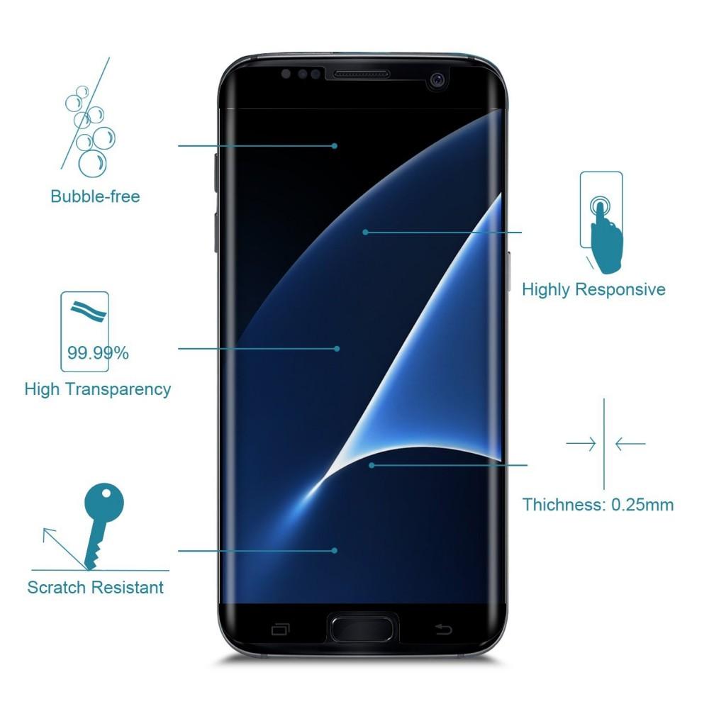 3D Ochranné sklo CASE FRIENDLY na celý displej pro Samsung Galaxy S7 Edge