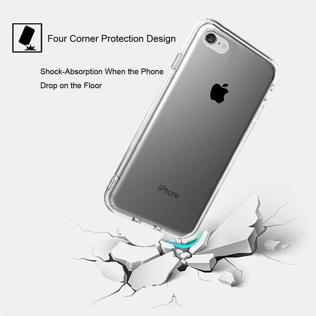 Průhledný čirý obal / kryt Ultra Slim Hybrid na iPhone 8 Plus / 7 Plus