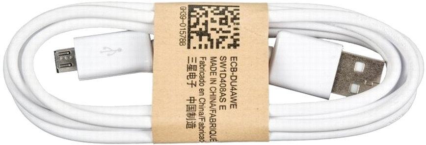 Originální datový / nabíjecí kabel Samsung s Micro USB (ECBDU4AWE), bílý
