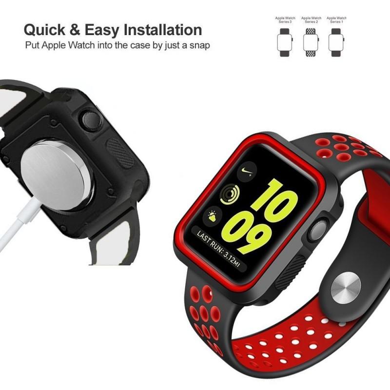 Silikonové pouzdro SPORT na Apple Watch 38mm Series 1, 2, 3