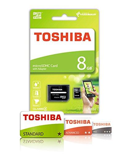 Paměťová karta TOSHIBA M102 microSDHC Class 4 + SD adaptér