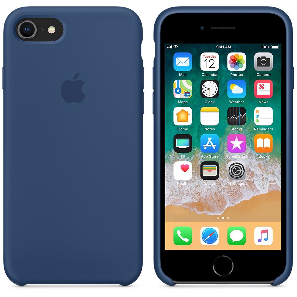 Originální silikonový kryt Apple iPhone 8 / 7 - Kobaltově modrý