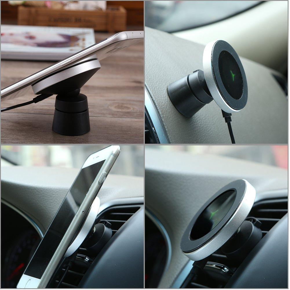 Magnetický držák W5 2v1 do auta s bezdrátovým nabíjením