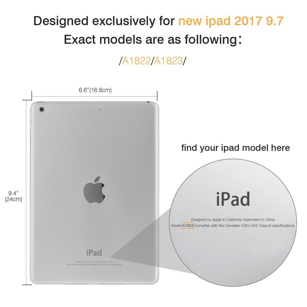 Silikonový průhledný čirý obal / kryt na Apple iPad 9.7 (2017)