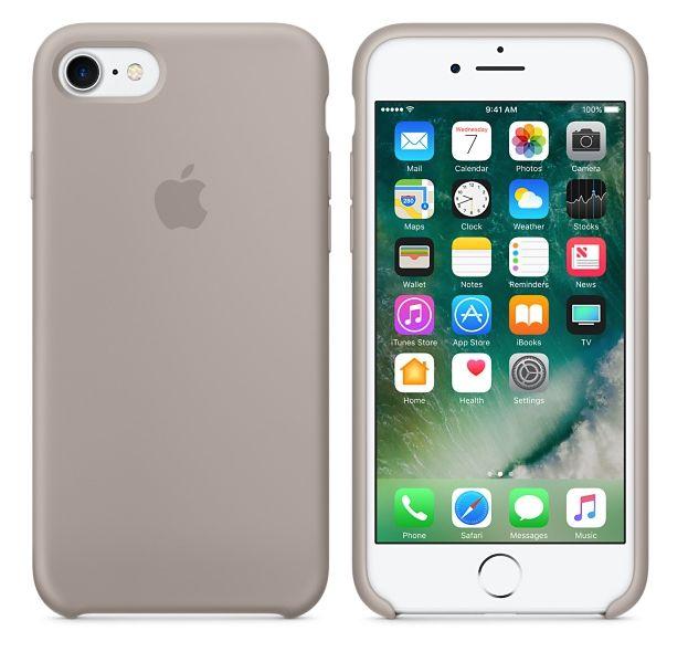 Originální silikonový kryt Apple iPhone 8 / 7 - Oblázkový