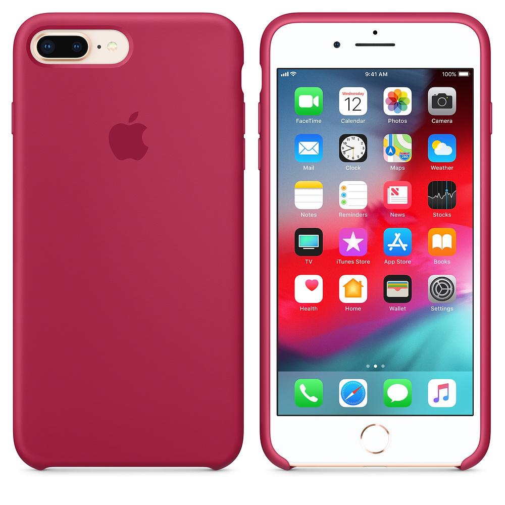 Silikonový kryt Apple Silicone Case na iPhone 8 Plus / 7 Plus - Rose Red (MQG52FE/A)