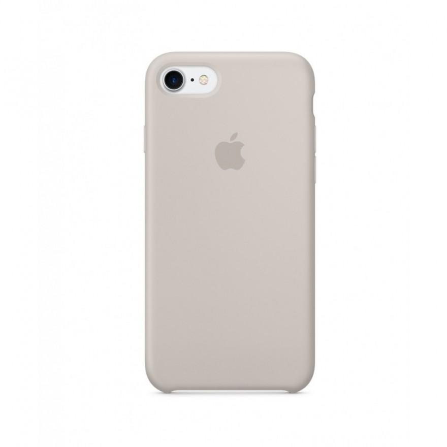 Originální silikonový kryt Apple iPhone 8 / 7 - Kamenně šedý