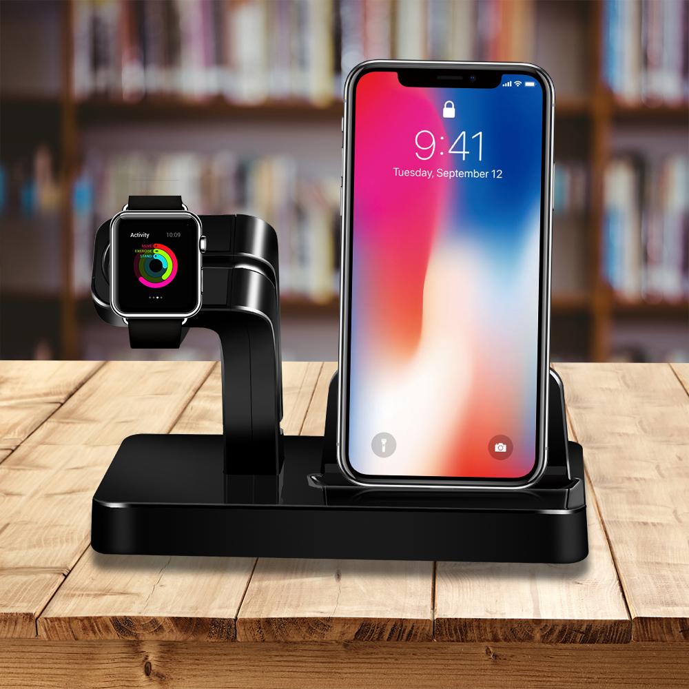 Dokovací stanice / stojánek BASIC 2v1 pro iPhone a Apple Watch