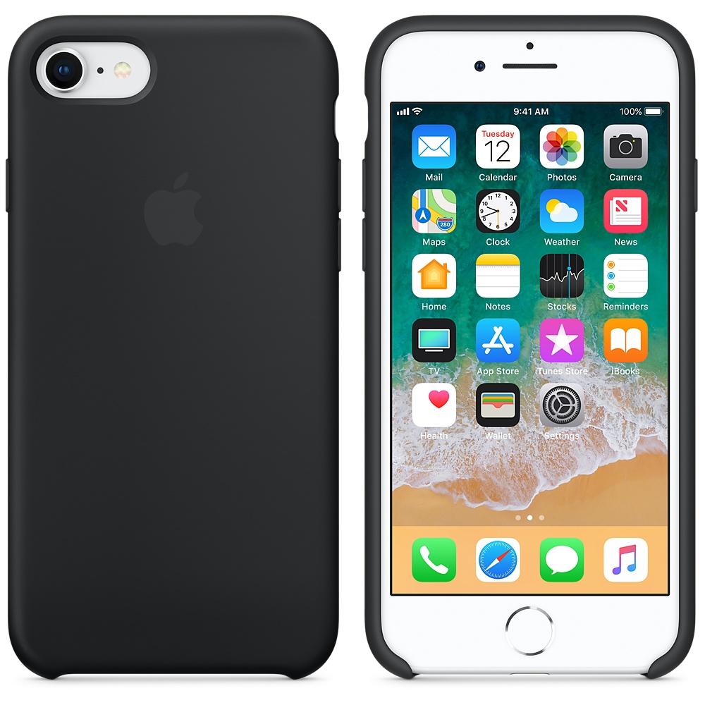 Originální silikonový kryt Apple iPhone 8 / 7 - Černý