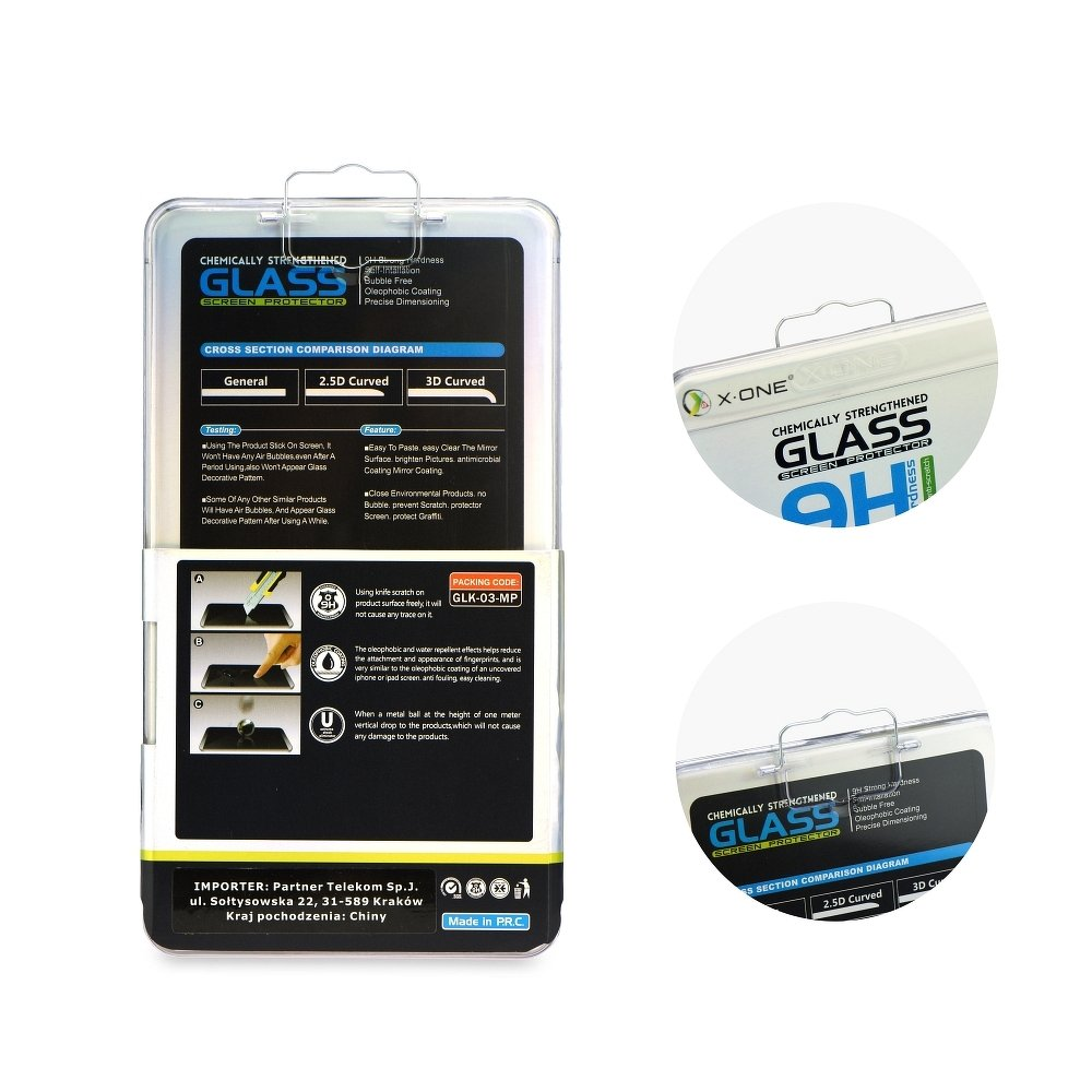 X-ONE Tvrzené sklo 3D FULL COVER 0,3mm na displej iPhone 8 / 7