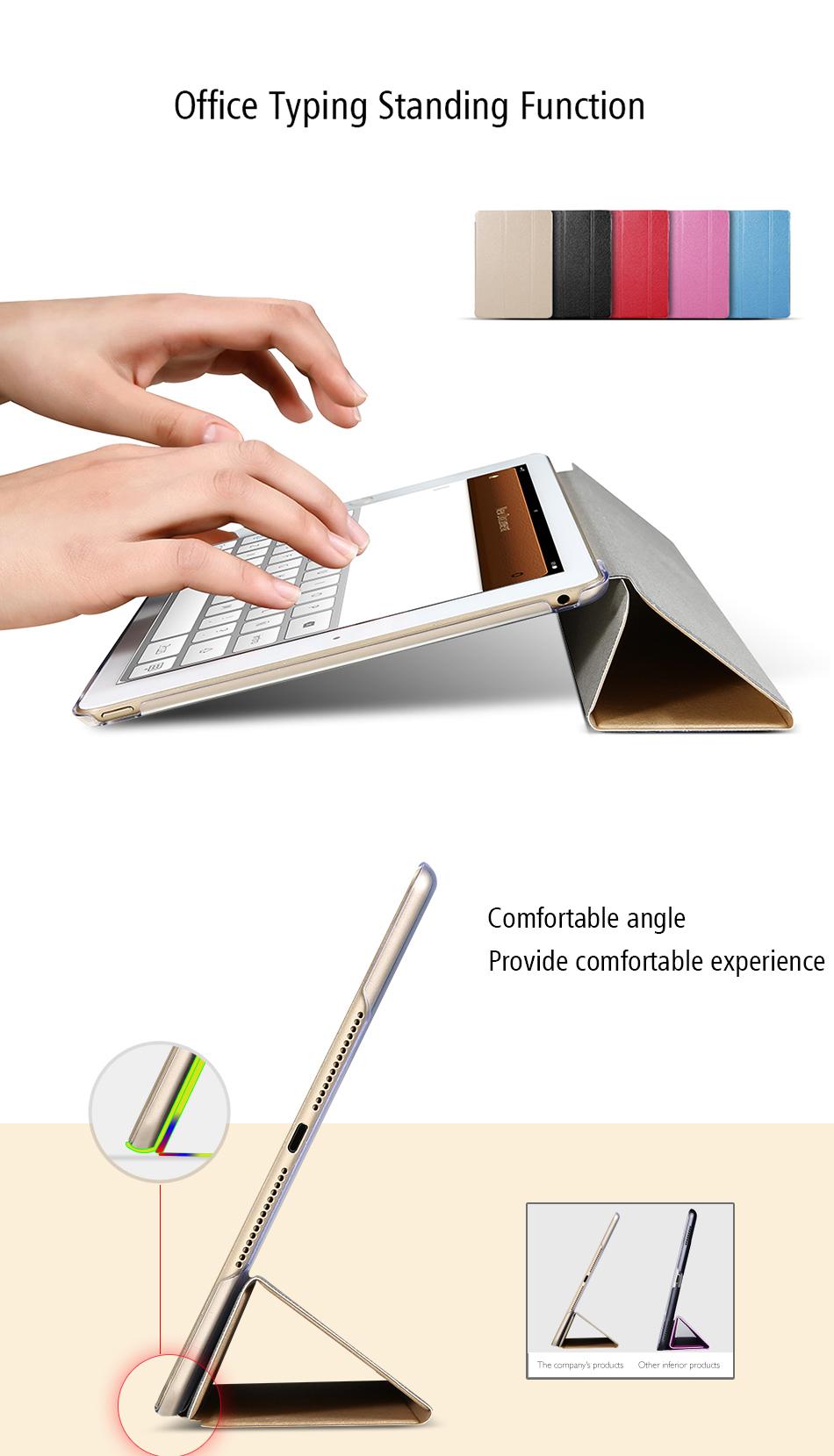 Flipové pouzdro s průhlednými zády pro iPad Air 2