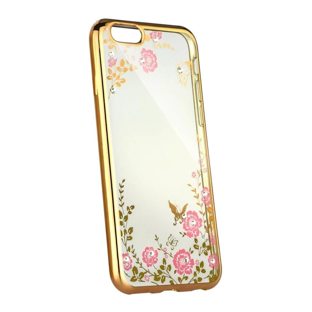 Pouzdro Forcell Diamond Case iPhone SE/5s/5 - Zlatá