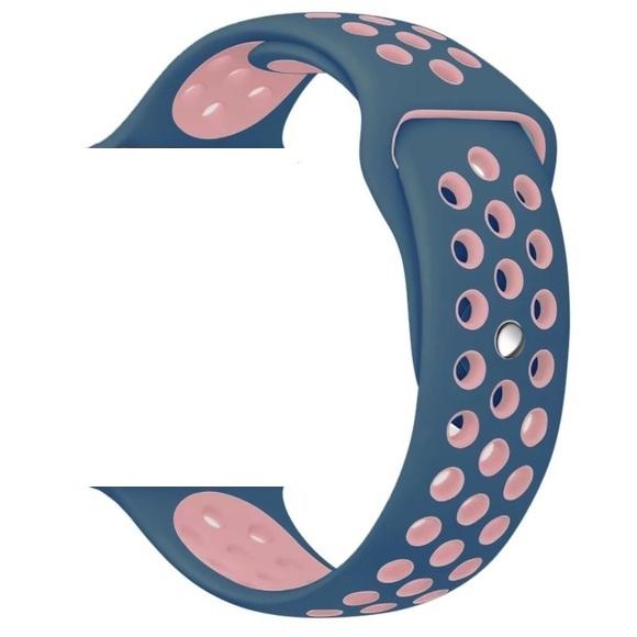 Řemínek iMore SPORT pro Apple Watch 42mm Series 1, 2, 3 - Oceánsky modrý - Růžový