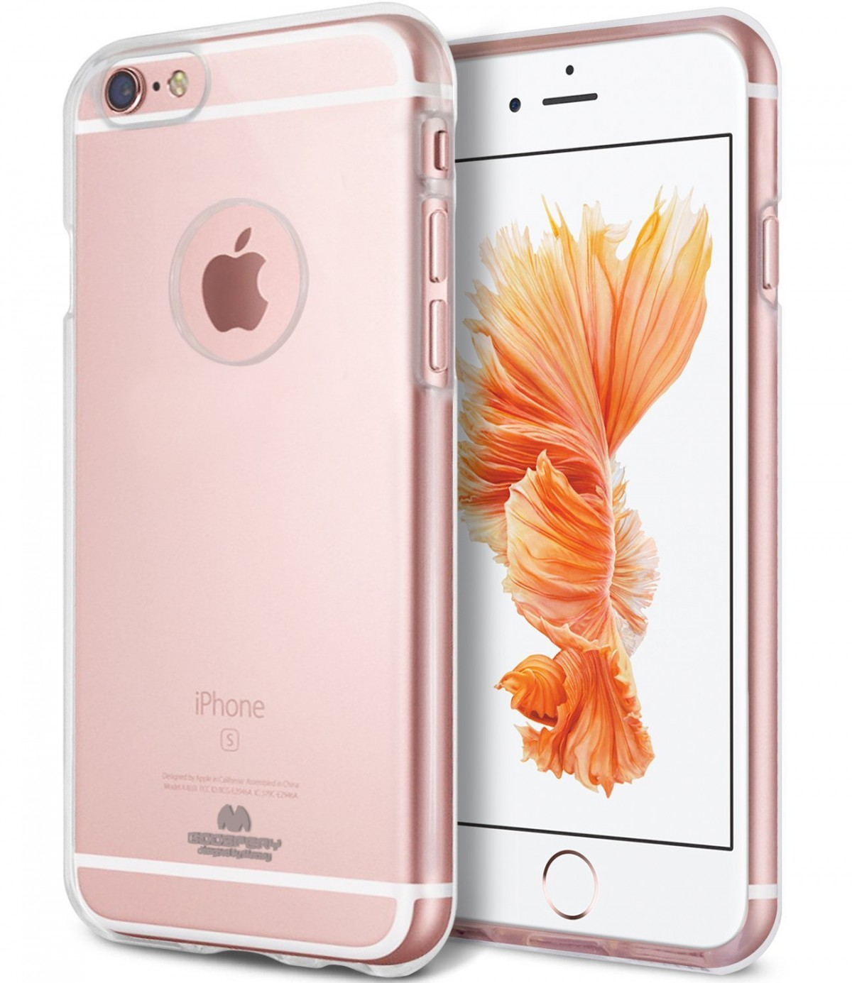 Tenké silikonové obaly / kryty Goospery Mercury pro Apple iPhone 6s/6 - Čirý / Transparentní / Průhledný