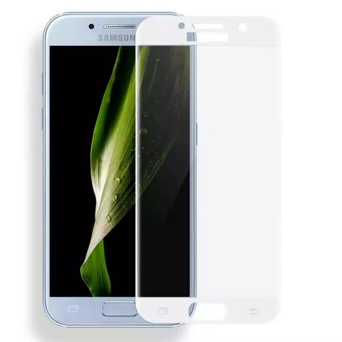 3D Tvrzené ochranné sklo 9H na celý displej pro Samsung Galaxy A5 (2017) - Bílé